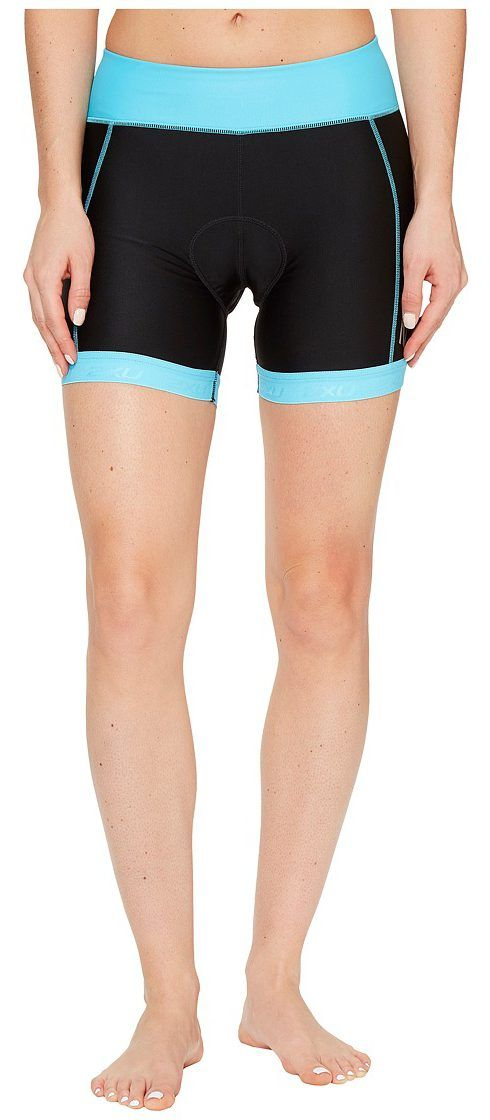 2XU X-Vent 4.5 Tri Shorts (Black/Blue Atoll) Women's Shorts - 2XU, X-Vent 4.5 Tri Shorts, WT4369B, Apparel Bottom Shorts, Shorts, Bottom, Apparel, Clothes Clothing, Gift, - Fashion Ideas To Inspire