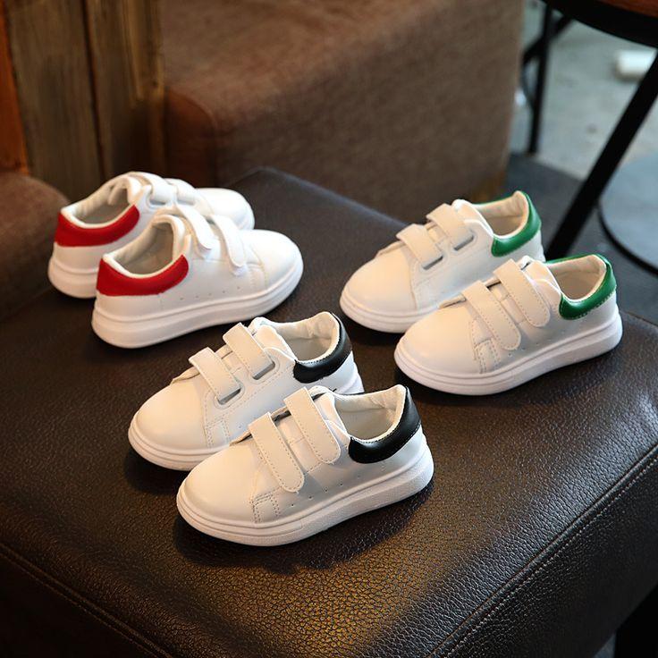 الأطفال أحذية 2017 الربيع والخريف أفخم ماء بنين و بنات الترفيهية الرياضية الأبيض الجري تريل أحذية جلدية حقيقية