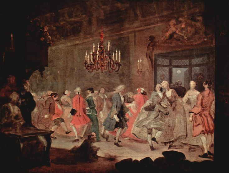 William Hogarth; The Country Dance. 1745