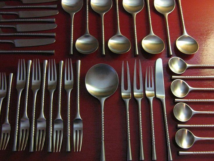 71 best images about dansk jens quistgaard on pinterest - Wrought iron flatware ...