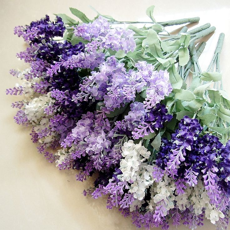 Silk Flowers Artificial Whole The Sitting Room Adornment 10 Head Of Lavender Simulation