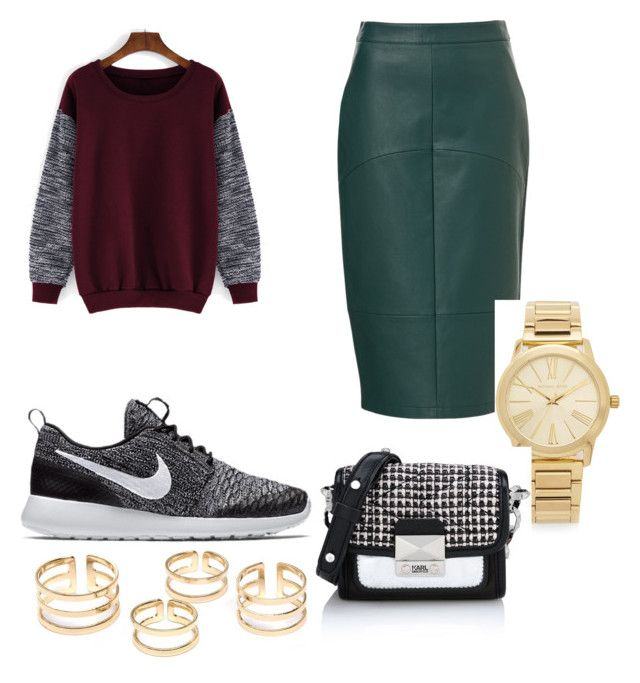 """Untitled #1"" by x-anna-a on Polyvore featuring NIKE, Michael Kors and Karl Lagerfeld"
