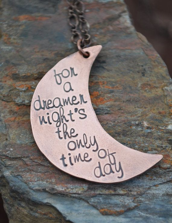 Stamped Newsies Quote Necklace by SayitNaturally on Etsy, $28.00