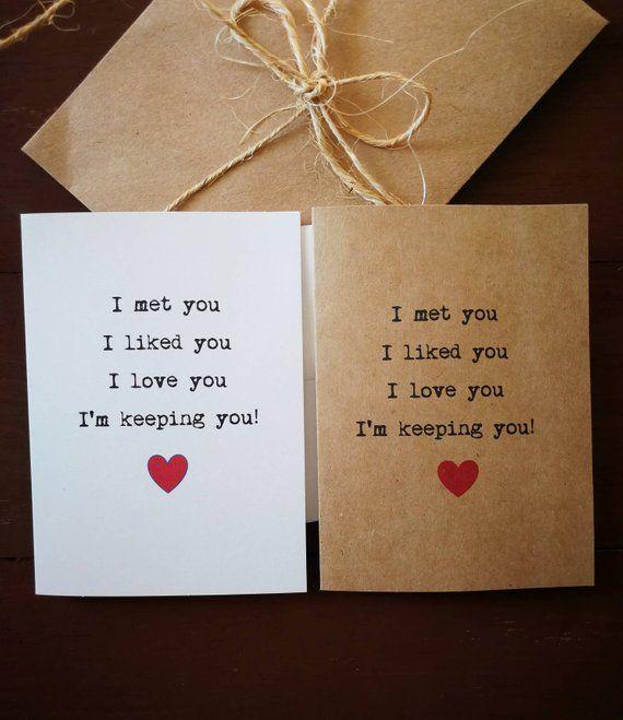 Handmade Valentine's day card, love card, heart card, anniversary card, boyfriend girlfriend card, j