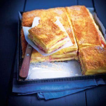 Gratin de polenta façon croque-monsieur