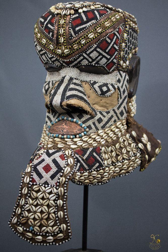 Kuba Royal Bwoom African Helmet  - Mask Congo DRC