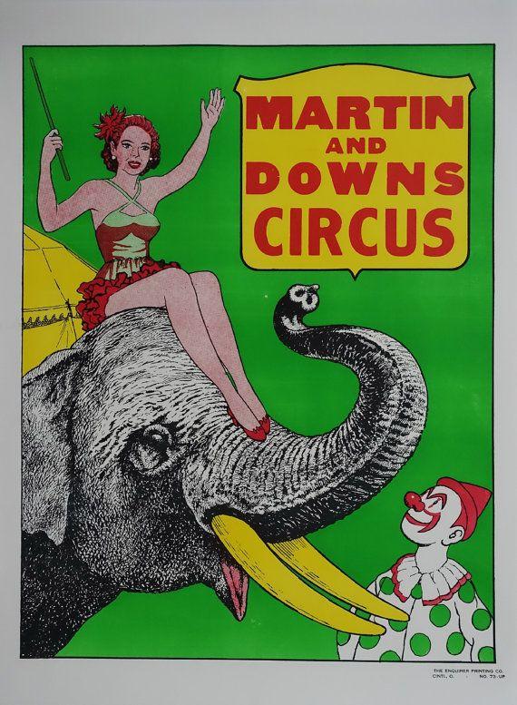 1970s Martin & Downs Circus  Original Vintage by OutofCopenhagen
