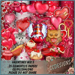 CCDesigns: New In Store's Valentines Mix 5 in Large Tagger Si...