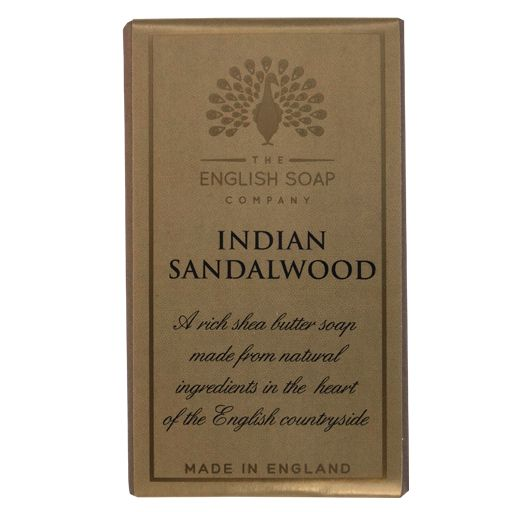 Indian Sandlwood Bath Soap, with a warm and deep musky scent which evokes the scent of Indian Sandalwood. Made in England. 200g Approx.