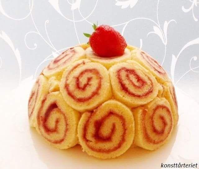 Strawberry Charlotte royale cake. Gluten free!