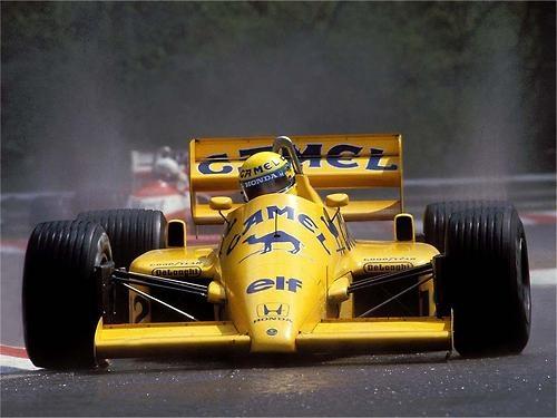 Ayrton Senna     Lotus-Honda 99T     Spa-Francorchamps, 1987     Grande Prêmio da Bélgica