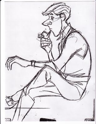 Animation Drawing Roger from 101 Dalmatians, Disney