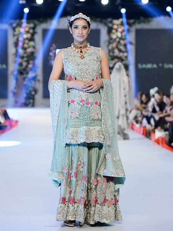 Pakistani Designer Walima Dresses 2017 In Sky Blue And