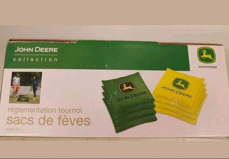NEW JOHN DEERE COLLECTION TOURNAMENT BEAN BAGS SET OF 8 REGULATION SIZE CORNHOLE #JohnDeere #cornhole #giftsforhim