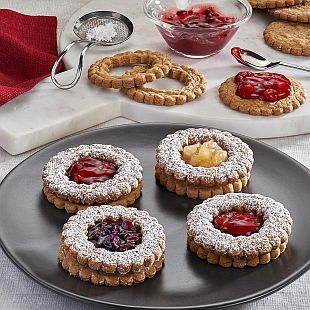 Spiced Linzer Cookies: