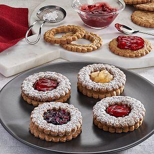 Spiced Linzer Cookies: