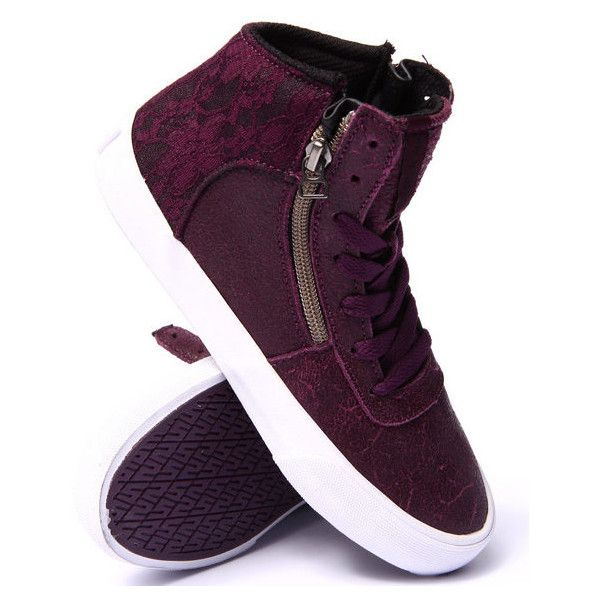 supra cuttler leather lace sneaker by Supra ($64) ❤ liked on Polyvore
