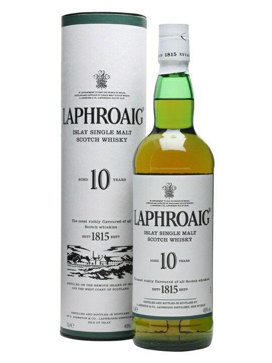 Laphroaig, Islay Single Malt, 10 years, Scotland.