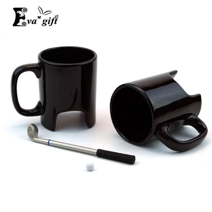 For boring meetings Price: US $12.35 #Creative #Golf #ceramic #cup #funny #black #coffee #mug #office #Casual #ceramic #cup #Golf #stick #pen #birthday #gift
