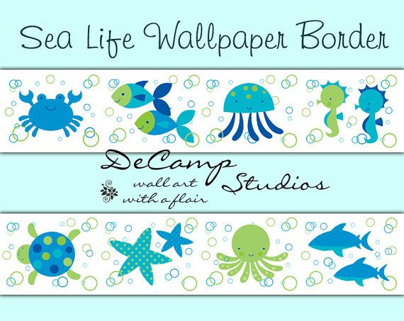 Under The Sea Life Wallpaper Border Wall Decals For Baby