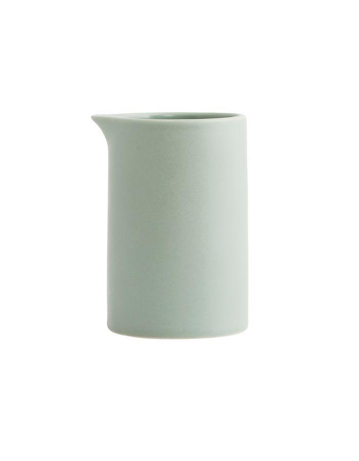 Porcelánová konvička na mléko - mint/grey / kitchenette shop