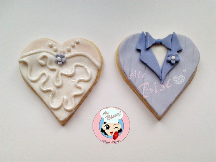 Biscotto lui e lei per un dolce segnaposto #weddingcookie #cakedesign #wedding
