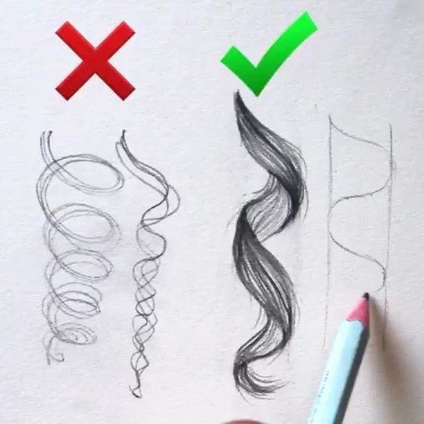 How to draw hair #hair #draw