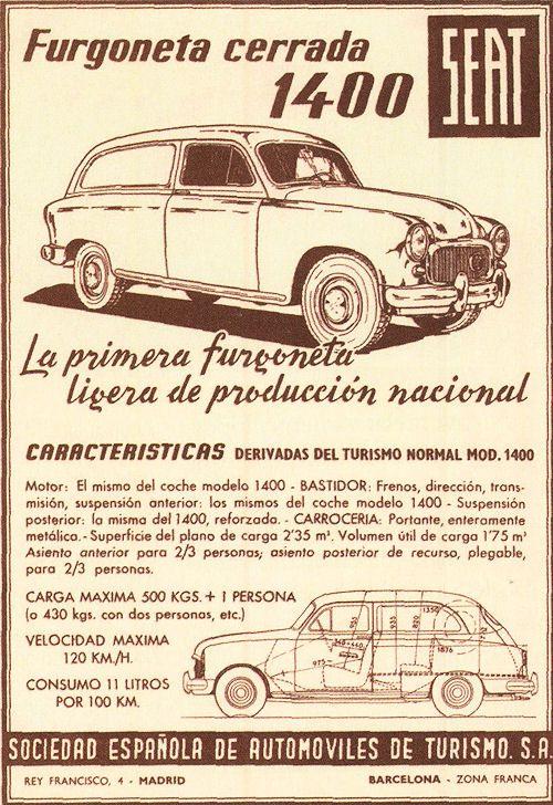 SEAT 1956. 1400 furgoneta