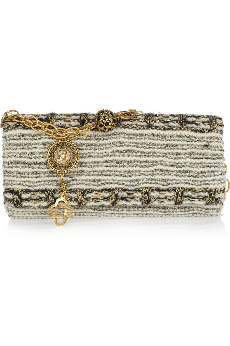 Oscar de la Renta: Handbags Fashion, Renta Paris, Fashion Shoes, Purses Handbags Wallets, Oscar De La Renta, Purses Bags Clutches, Woven Tweed, Tweed Bags, Paris Woven