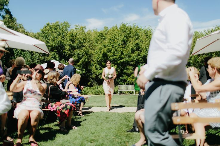 Ceremony lawn - Here comes the bride or bridesmaid in this case !