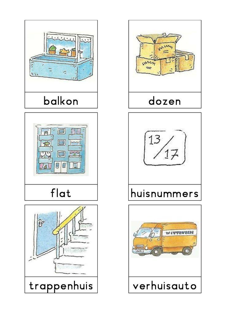 Woordkaarten Bas 'De verhuizing' 1