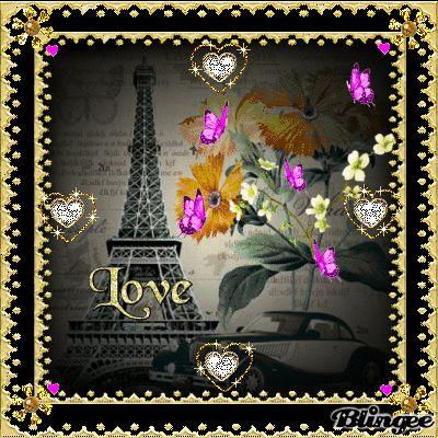 DER WUNDERSCHOENE EIFFELTURM STADT PARIS EWIGE LIEBE HERRLICHE TRÄUME BLÜTEN HERZEN BUTTERFLYS ERFREUEN LIEBES DANKE VON HERZEN!