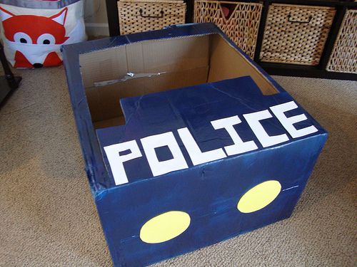 Amber, check out this blog post of a little girl's police themed bday party. You already have the rug.