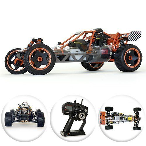 Amazon.com: King Motor Baja KSRC-002 30.5cc 1/5 Scale 2 Speed Gas / Petrol Powered RC Remote Control Car: Toys & Games