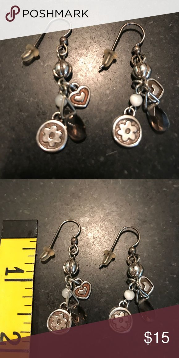 Brighton earrings Wire earrings w charms, nonsmoking home Brighton Jewelry Earrings