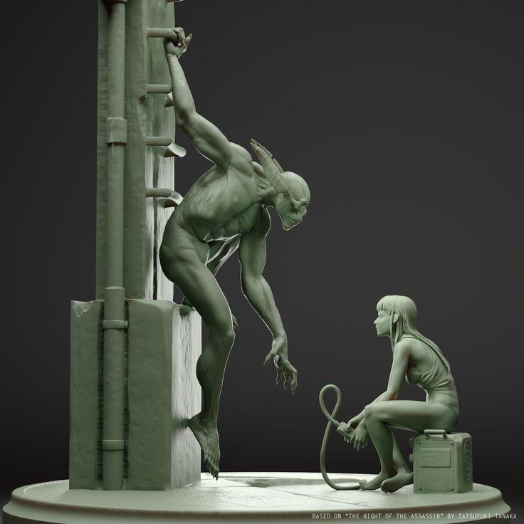 ArtStation - the night of the assassin, alternative pose, Juan Carlos Nunez