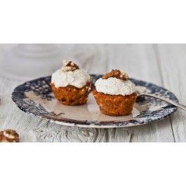Mini-gâteaux aux carottes crus et crémage cajou et fleur d'oranger