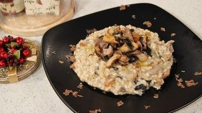 Gino D'Acampo's wild mushrooms and white truffle risotto recipe