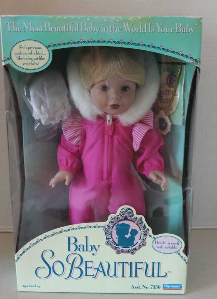 "Mint in Box Vintage Playmates ""Baby So Beautiful"" Doll #7350 Blonde with Pink Suit by Calessabay on Etsy"