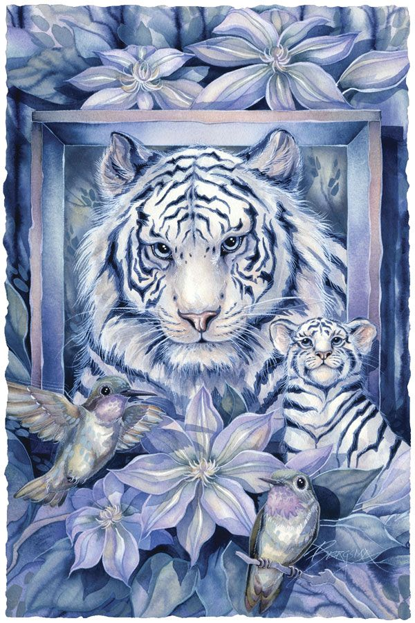 Bergsma Gallery Press :: Paintings :: Nature :: Multiple Animal Types :: At Home In The Garden - Prints