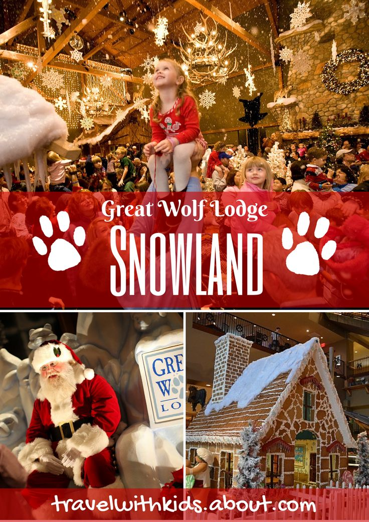 Snowland at Great Wolf Lodge Indoor Waterpark Resorts | About.com Family Vacations #holidays #christmas