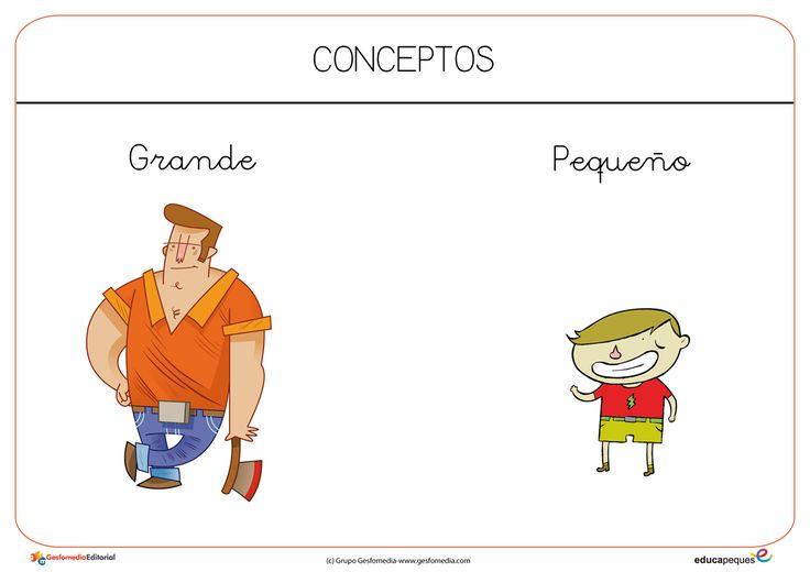 Grande-Pequeño   Fichas de conceptos   Pinterest