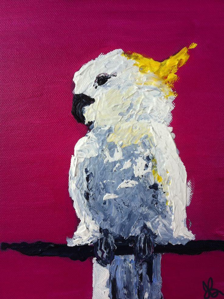Cocky, Acrylic on canvas 2013. Ingrid Bowen Art