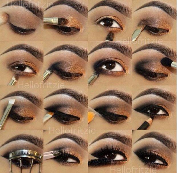 Wedding Makeup Step By Step Eyeshadows Smokey Eye Makeup Eye