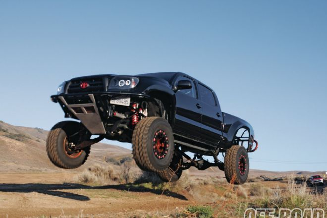 Check out JD McEntire's twisted 2008 Toyota Tacoma prerunner, Diabolical Toy, built by SMP Fabworks, only on off-roadweb.com, the official website of Off-Road Magazine.