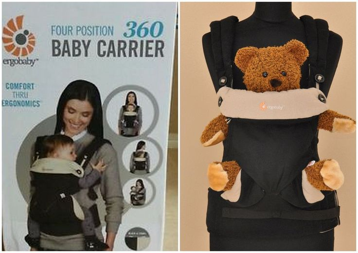 WORLDWIDE FREE SHIPPING  ERGOBABY Four Position 360 Baby Carrier Black and Camel
