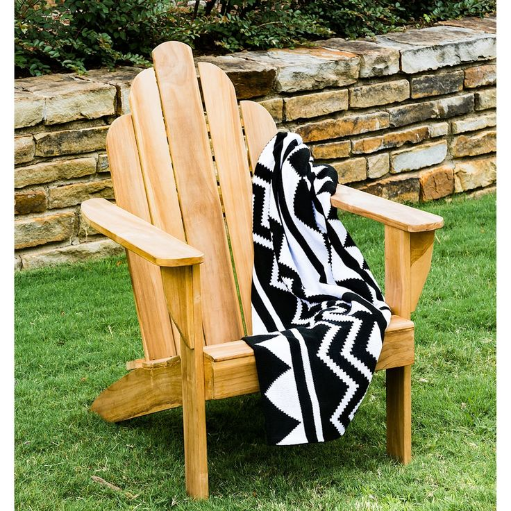 Cambridge Casual Sherwood Teak Adirondack Chair (Adirondack Chairs - Standard - Assembly Required), Natural, Size Single, Patio Furniture