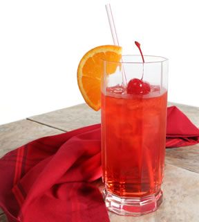shirley temple all you need is strawberry syrup and sprite stir it up and dont put in so much syrup