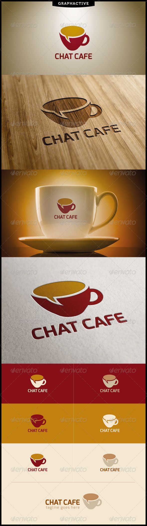 Chat Cafe Logo Design