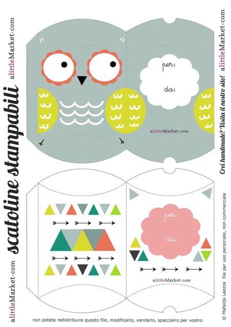 Owl Gift box template Pinned by www.myowlbarn.com